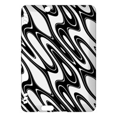 Black And White Wave Abstract Kindle Fire Hdx Hardshell Case