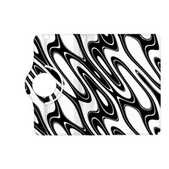 Black And White Wave Abstract Kindle Fire Hd (2013) Flip 360 Case