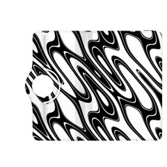 Black And White Wave Abstract Kindle Fire HDX 8.9  Flip 360 Case