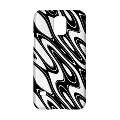 Black And White Wave Abstract Samsung Galaxy S5 Hardshell Case
