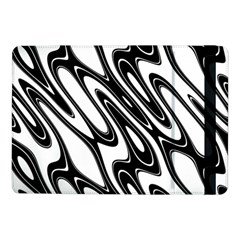 Black And White Wave Abstract Samsung Galaxy Tab Pro 10 1  Flip Case