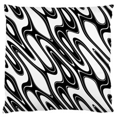 Black And White Wave Abstract Standard Flano Cushion Case (one Side)