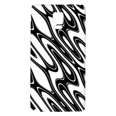 Black And White Wave Abstract Galaxy Note 4 Back Case