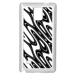 Black And White Wave Abstract Samsung Galaxy Note 4 Case (white)