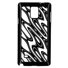 Black And White Wave Abstract Samsung Galaxy Note 4 Case (black)