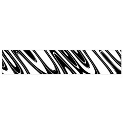 Black And White Wave Abstract Flano Scarf (Small)