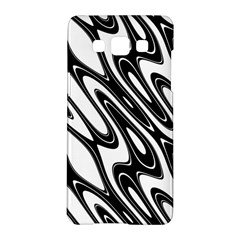 Black And White Wave Abstract Samsung Galaxy A5 Hardshell Case