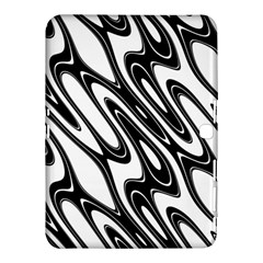 Black And White Wave Abstract Samsung Galaxy Tab 4 (10 1 ) Hardshell Case