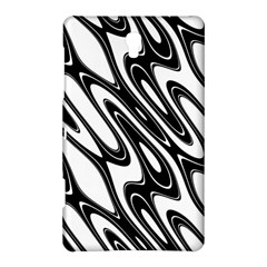 Black And White Wave Abstract Samsung Galaxy Tab S (8 4 ) Hardshell Case