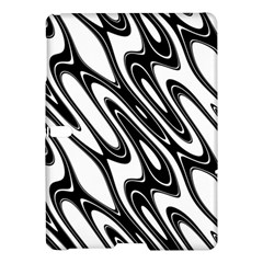 Black And White Wave Abstract Samsung Galaxy Tab S (10.5 ) Hardshell Case