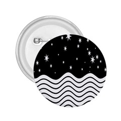 Black And White Waves And Stars Abstract Backdrop Clipart 2 25  Buttons
