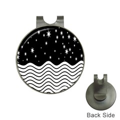 Black And White Waves And Stars Abstract Backdrop Clipart Hat Clips With Golf Markers