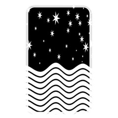 Black And White Waves And Stars Abstract Backdrop Clipart Memory Card Reader
