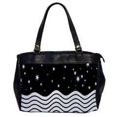 Black And White Waves And Stars Abstract Backdrop Clipart Office Handbags