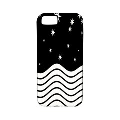 Black And White Waves And Stars Abstract Backdrop Clipart Apple Iphone 5 Classic Hardshell Case (pc+silicone)