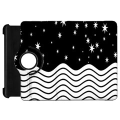 Black And White Waves And Stars Abstract Backdrop Clipart Kindle Fire Hd 7