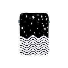 Black And White Waves And Stars Abstract Backdrop Clipart Apple Ipad Mini Protective Soft Cases