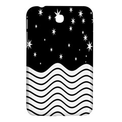 Black And White Waves And Stars Abstract Backdrop Clipart Samsung Galaxy Tab 3 (7 ) P3200 Hardshell Case