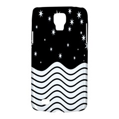 Black And White Waves And Stars Abstract Backdrop Clipart Galaxy S4 Active