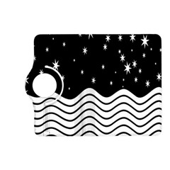 Black And White Waves And Stars Abstract Backdrop Clipart Kindle Fire Hd (2013) Flip 360 Case