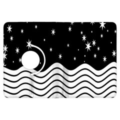 Black And White Waves And Stars Abstract Backdrop Clipart Kindle Fire Hdx Flip 360 Case