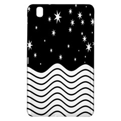 Black And White Waves And Stars Abstract Backdrop Clipart Samsung Galaxy Tab Pro 8 4 Hardshell Case