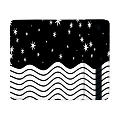 Black And White Waves And Stars Abstract Backdrop Clipart Samsung Galaxy Tab Pro 8 4  Flip Case