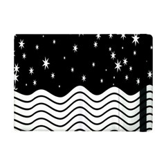 Black And White Waves And Stars Abstract Backdrop Clipart Ipad Mini 2 Flip Cases