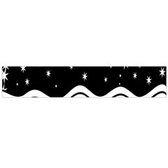 Black And White Waves And Stars Abstract Backdrop Clipart Flano Scarf (large)