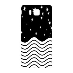 Black And White Waves And Stars Abstract Backdrop Clipart Samsung Galaxy Alpha Hardshell Back Case