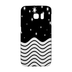 Black And White Waves And Stars Abstract Backdrop Clipart Galaxy S6 Edge