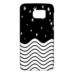 Black And White Waves And Stars Abstract Backdrop Clipart Galaxy S6