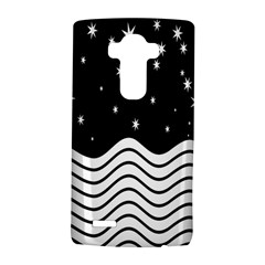 Black And White Waves And Stars Abstract Backdrop Clipart LG G4 Hardshell Case
