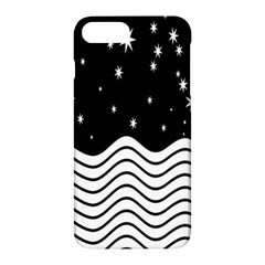 Black And White Waves And Stars Abstract Backdrop Clipart Apple Iphone 7 Plus Hardshell Case