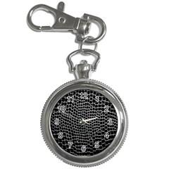 Black White Crocodile Background Key Chain Watches