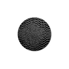 Black White Crocodile Background Golf Ball Marker (4 Pack)