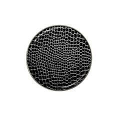 Black White Crocodile Background Hat Clip Ball Marker