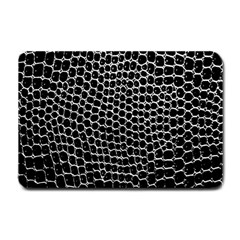 Black White Crocodile Background Small Doormat