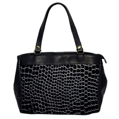 Black White Crocodile Background Office Handbags