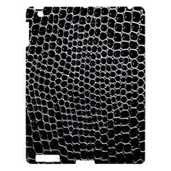 Black White Crocodile Background Apple Ipad 3/4 Hardshell Case