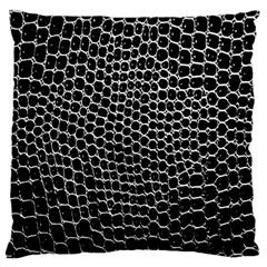 Black White Crocodile Background Large Cushion Case (one Side)