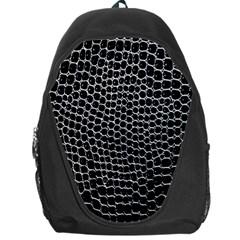 Black White Crocodile Background Backpack Bag