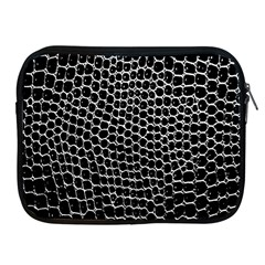 Black White Crocodile Background Apple Ipad 2/3/4 Zipper Cases
