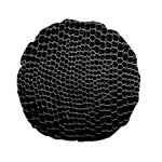 Black White Crocodile Background Standard 15  Premium Flano Round Cushions Front