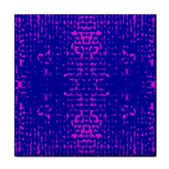 Blue And Pink Pixel Pattern Tile Coasters