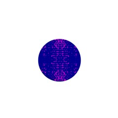 Blue And Pink Pixel Pattern 1  Mini Magnets