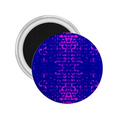 Blue And Pink Pixel Pattern 2.25  Magnets