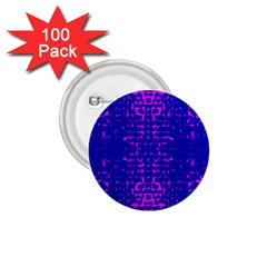 Blue And Pink Pixel Pattern 1 75  Buttons (100 Pack)