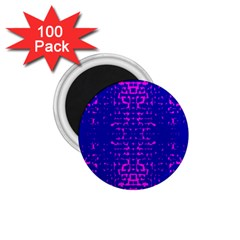 Blue And Pink Pixel Pattern 1 75  Magnets (100 Pack)