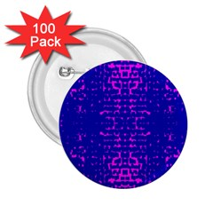 Blue And Pink Pixel Pattern 2.25  Buttons (100 pack)